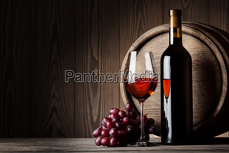 black, bottle, and, glass, of, red - 28278726