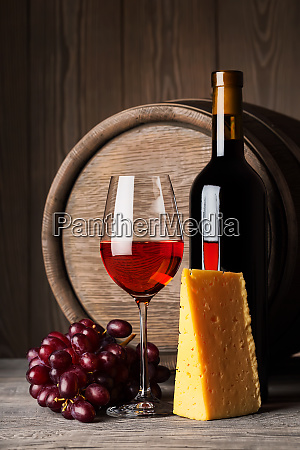 bottle, and, glass, of, red, wine - 28278603