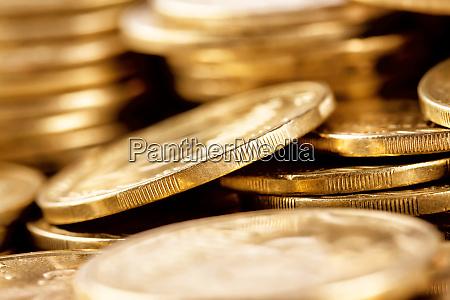 bright, golden, coins, shot, a, bunch - 28278734
