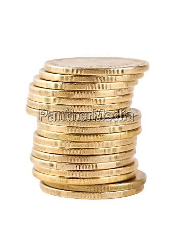 column, coins, shot, with, focus, on - 28278657