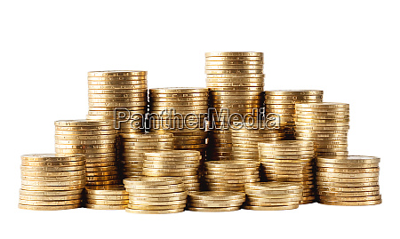 column, of, golden, coins - 28278658