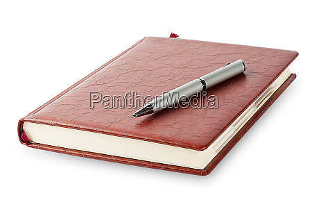 diary, with, a, pen, lying, on - 28278594