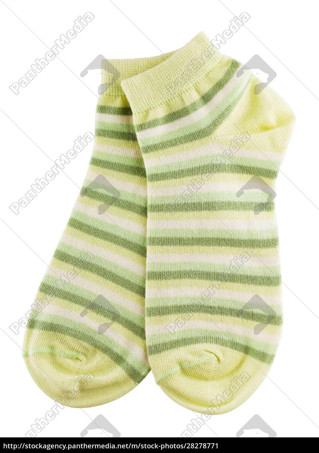 green, and, white, striped, socks - 28278771
