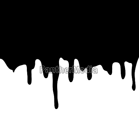 melting, chocolate, dripping, on, white, background. - 28278359