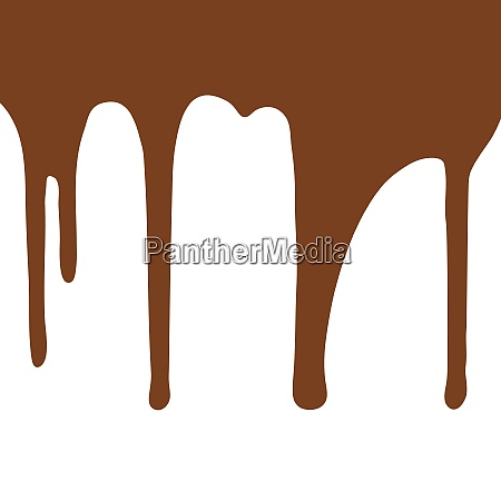 melting, chocolate, dripping, on, white, background. - 28278409