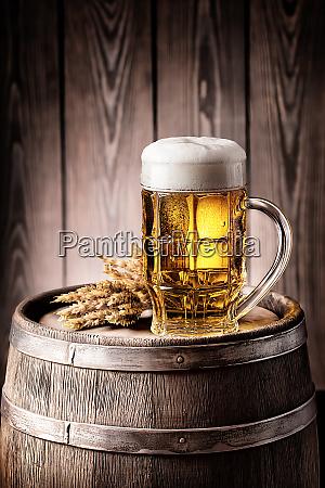 mug, of, light, beer, with, foam - 28278778