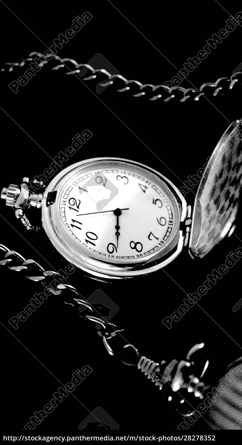 old, antique, pocket, watch, with, chain - 28278352