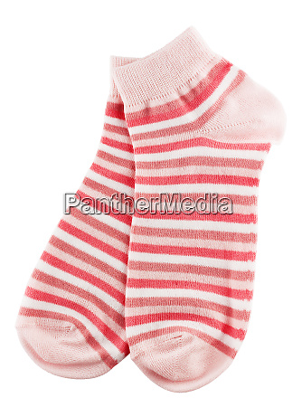 pink, and, white, striped, socks - 28278704