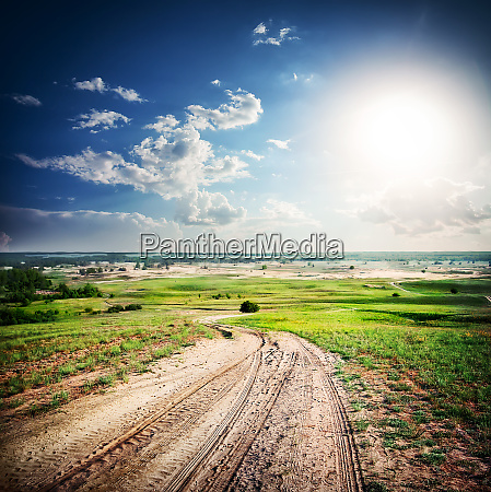 sandy, dirt, road, in, a, green - 28278759