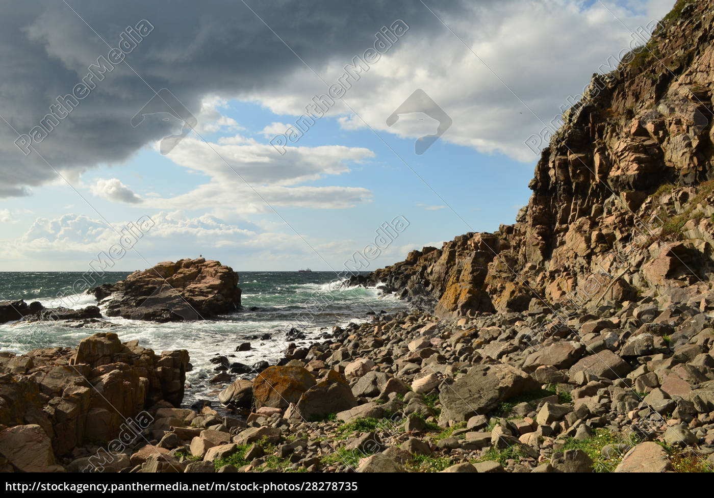 the, rocky, coastline, and, cloudy, sky - 28278735