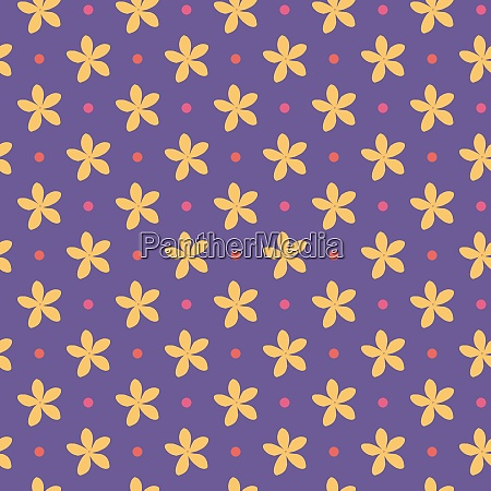 ultra, violet, seamless, pattern, with, flowers - 28278805