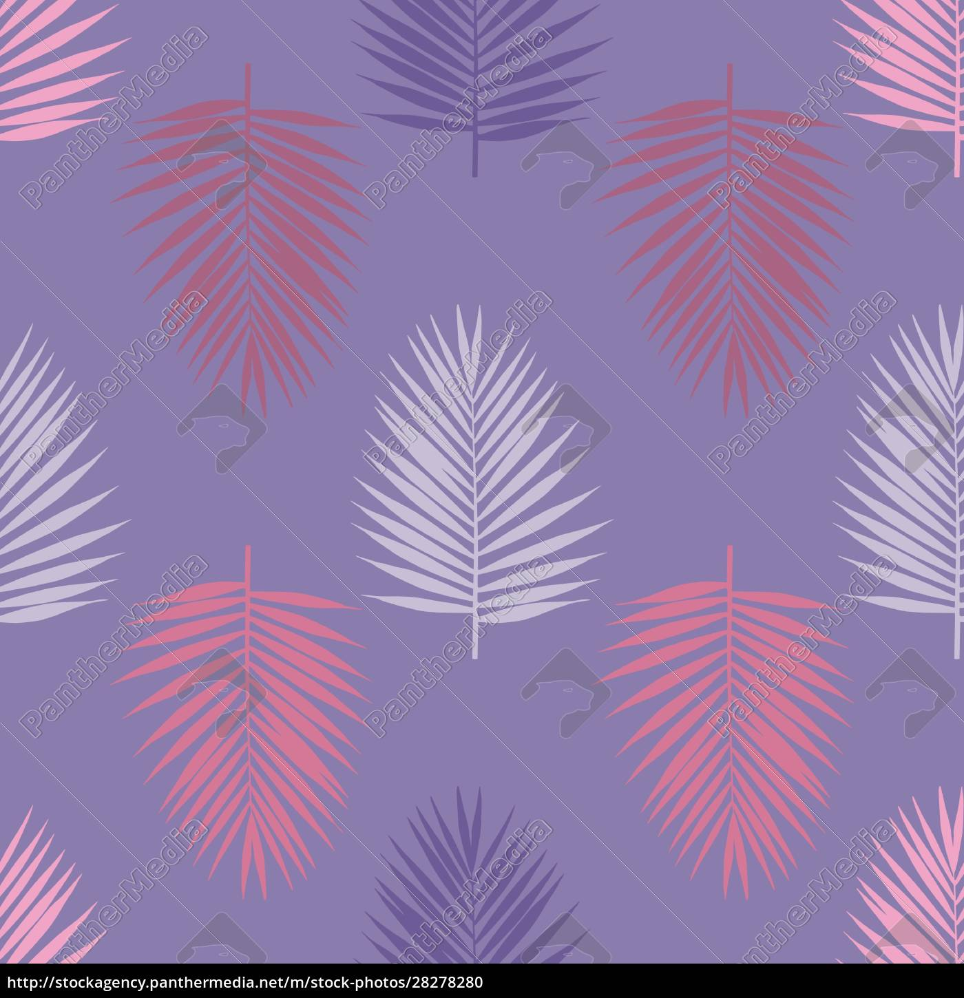 ultra, violet, tropical, palm, leaves, seamless - 28278280