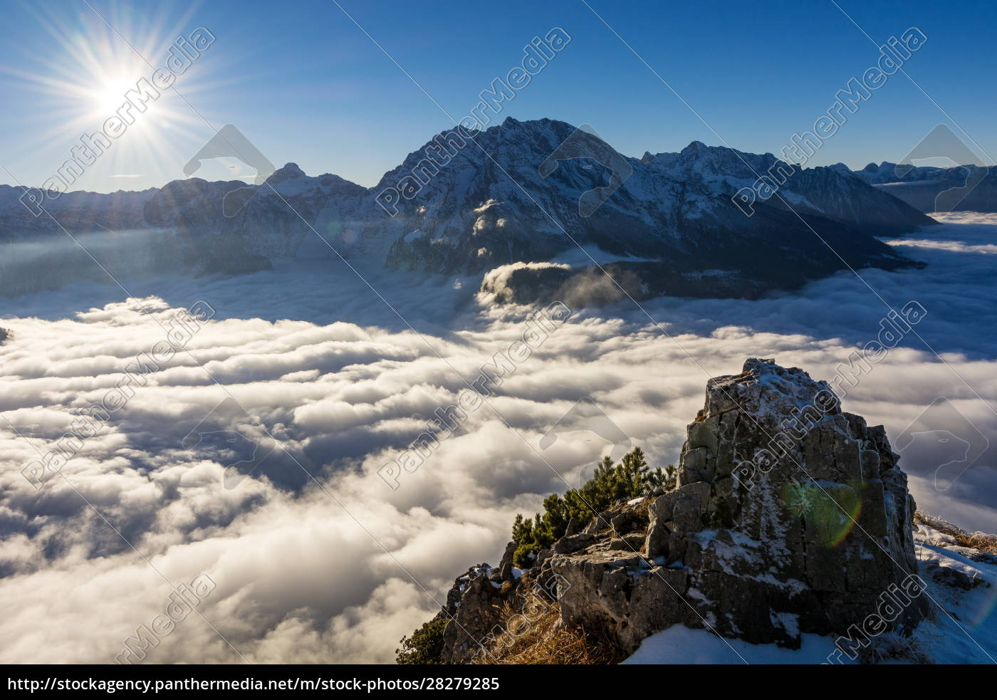 a, foggy, day, in, the, alps - 28279285