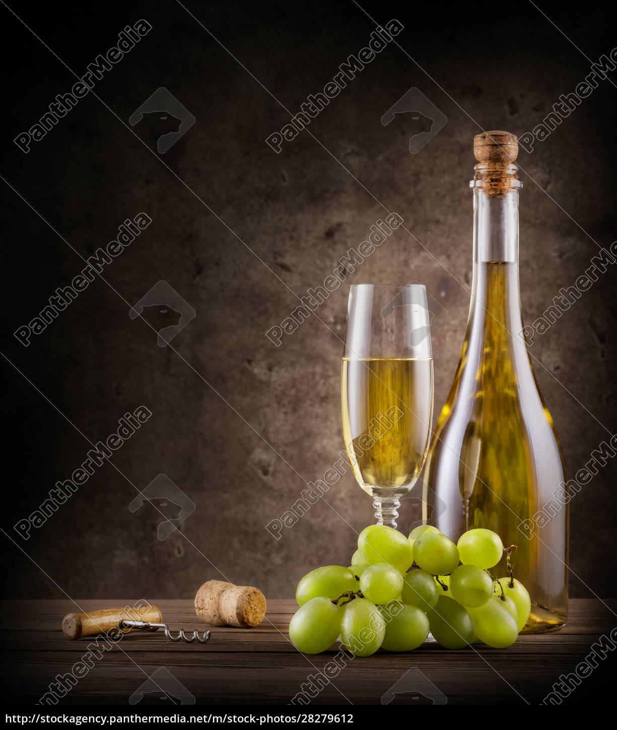 bottle, of, champagne, with, grapes, and - 28279612