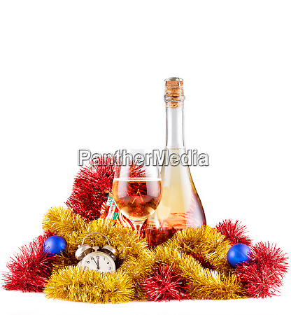 christmas, champagne, and, watch - 28279805