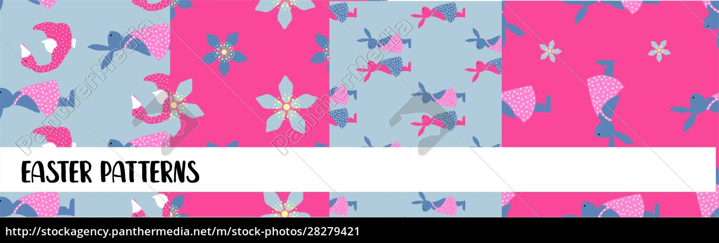 easter, seamless, patterns., set, of, abstract - 28279421