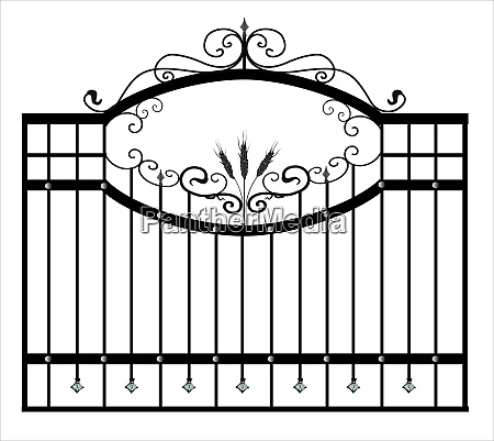 gates, forged, sketch., artistic, forging., iron - 28279125