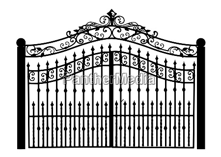 gates, forged, sketch., artistic, forging., iron - 28279308