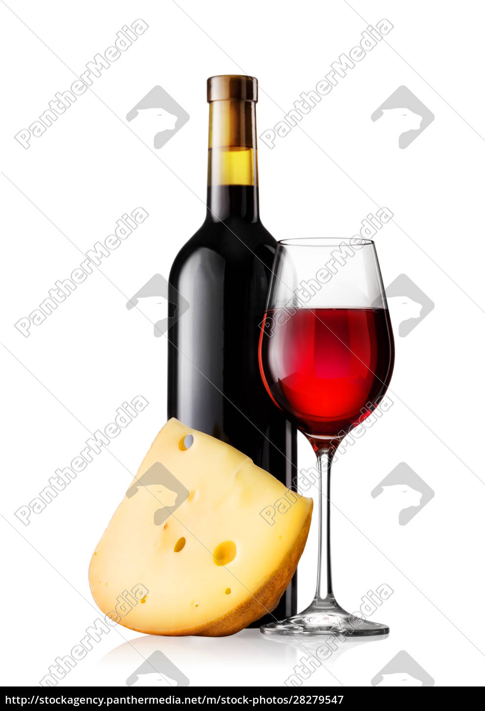 glass, and, bottle, of, red, wine - 28279547