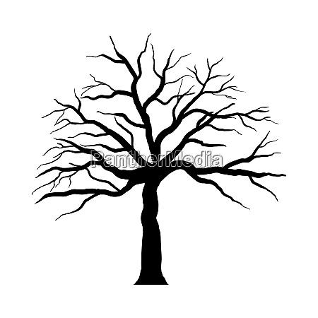 halloween, cartoon, tree - 28279210