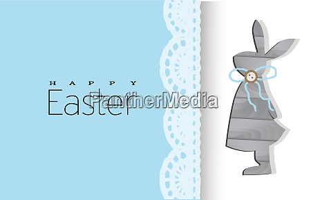 happy, easter., greeting, card, with, rabbit. - 28279258