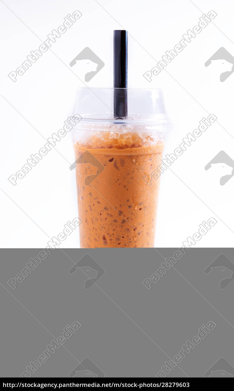 ice, milk, tea, sweet, drink, isolated - 28279603