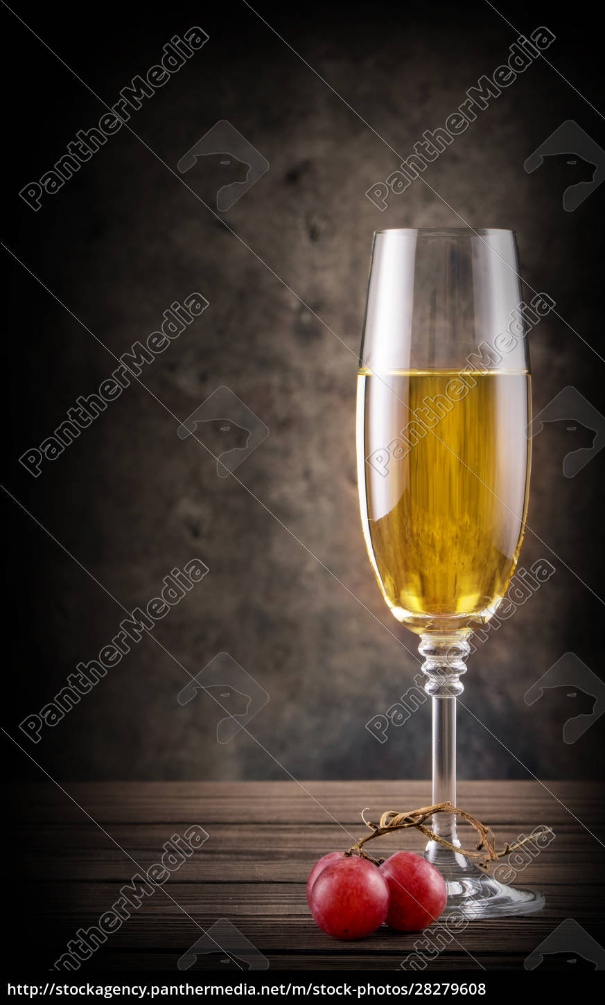 narrow, glass, of, white, wine - 28279608