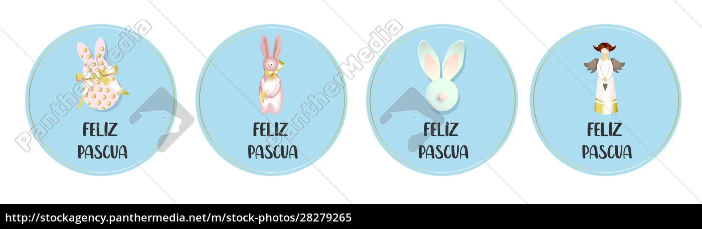 round, easter, badges., collection, of, greeting - 28279265