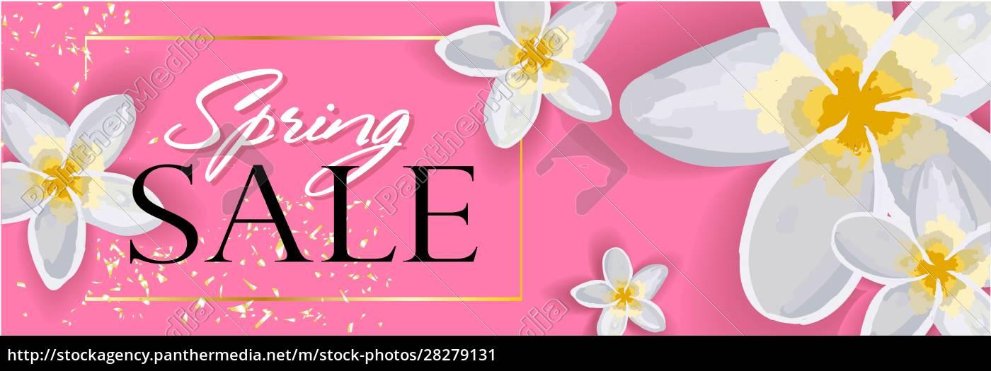 spring, sale, horizontal, banner, , header, for - 28279131