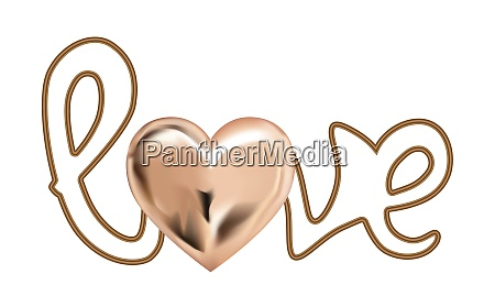 the, word, love., vector, illustration., realistic - 28279250