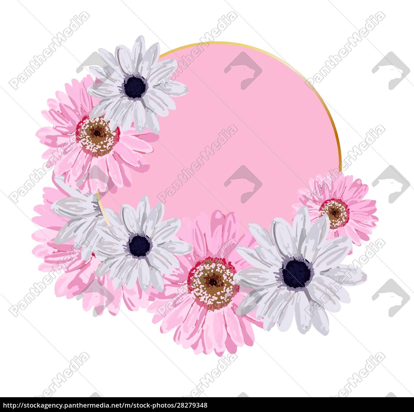 vector, round, background, for, lettering., pink - 28279348