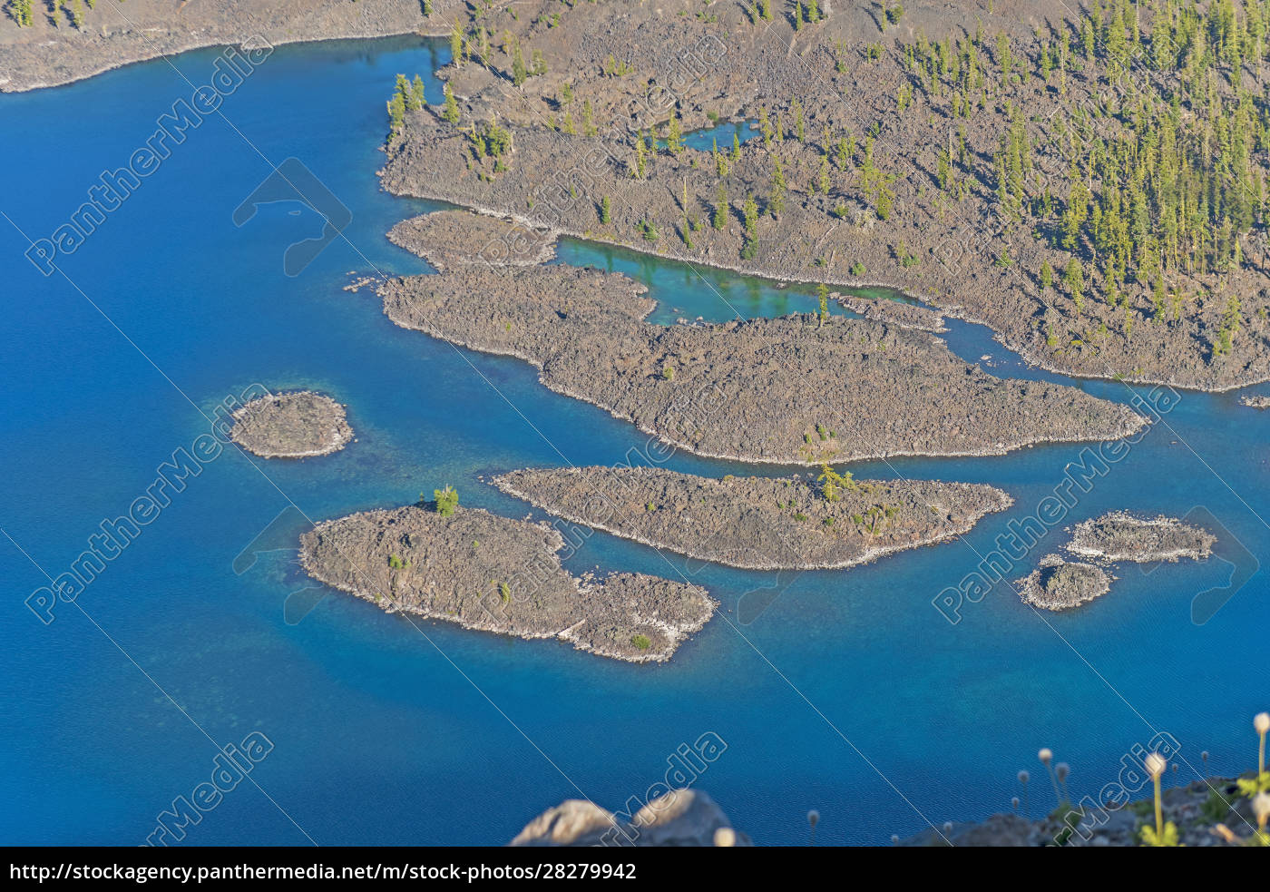 volcanic, islets, in, crater, lake, near - 28279942