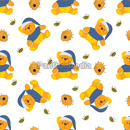 winnie-the-pooh, seamless, pattern., toys, isolated, on - 28279317