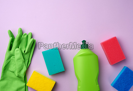 purple rubber gloves for cleaning multi