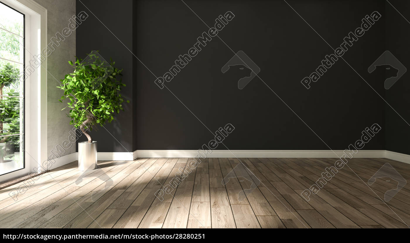 black, and, concrete, wall, empty, room - 28280251