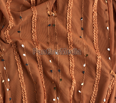 brown, tulle, with, sequin, embroidery, and - 28280465