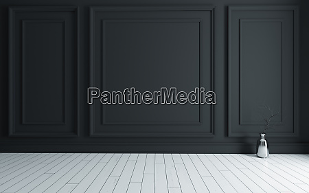 empty, room, with, modern, classic, black - 28280295