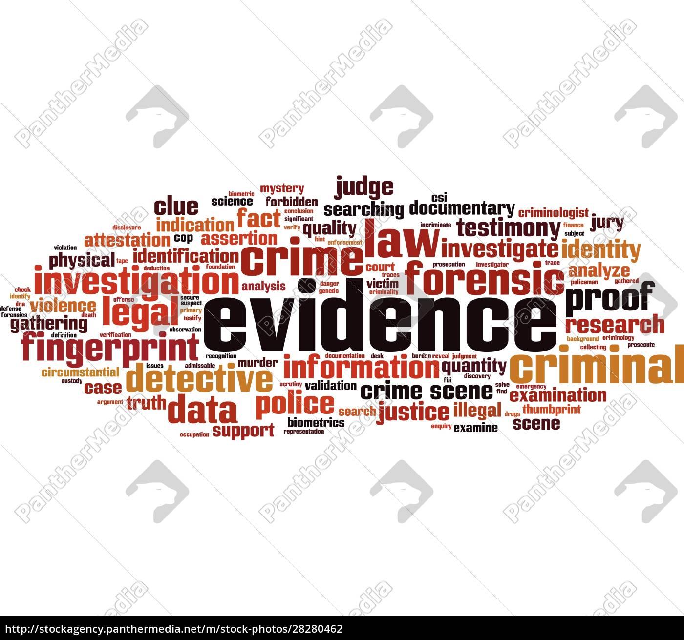 evidence, word, cloud - 28280462