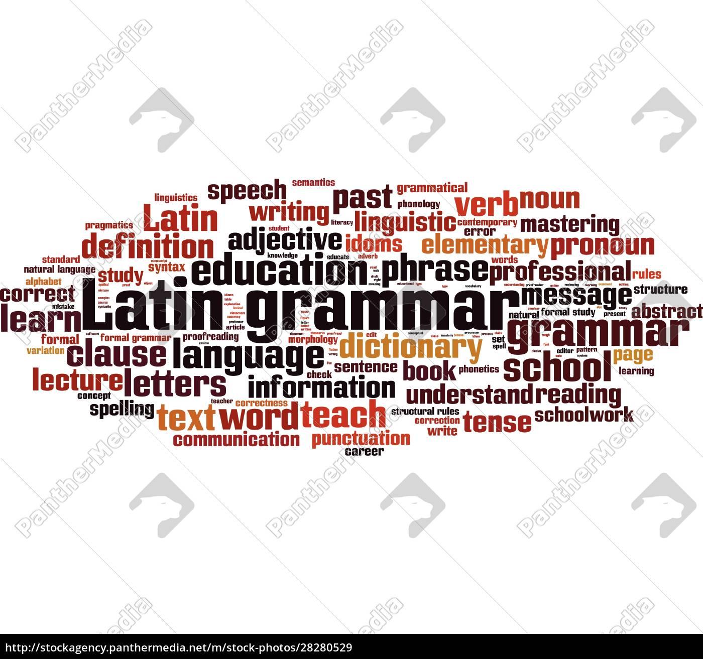 latin, grammar, word, cloud - 28280529