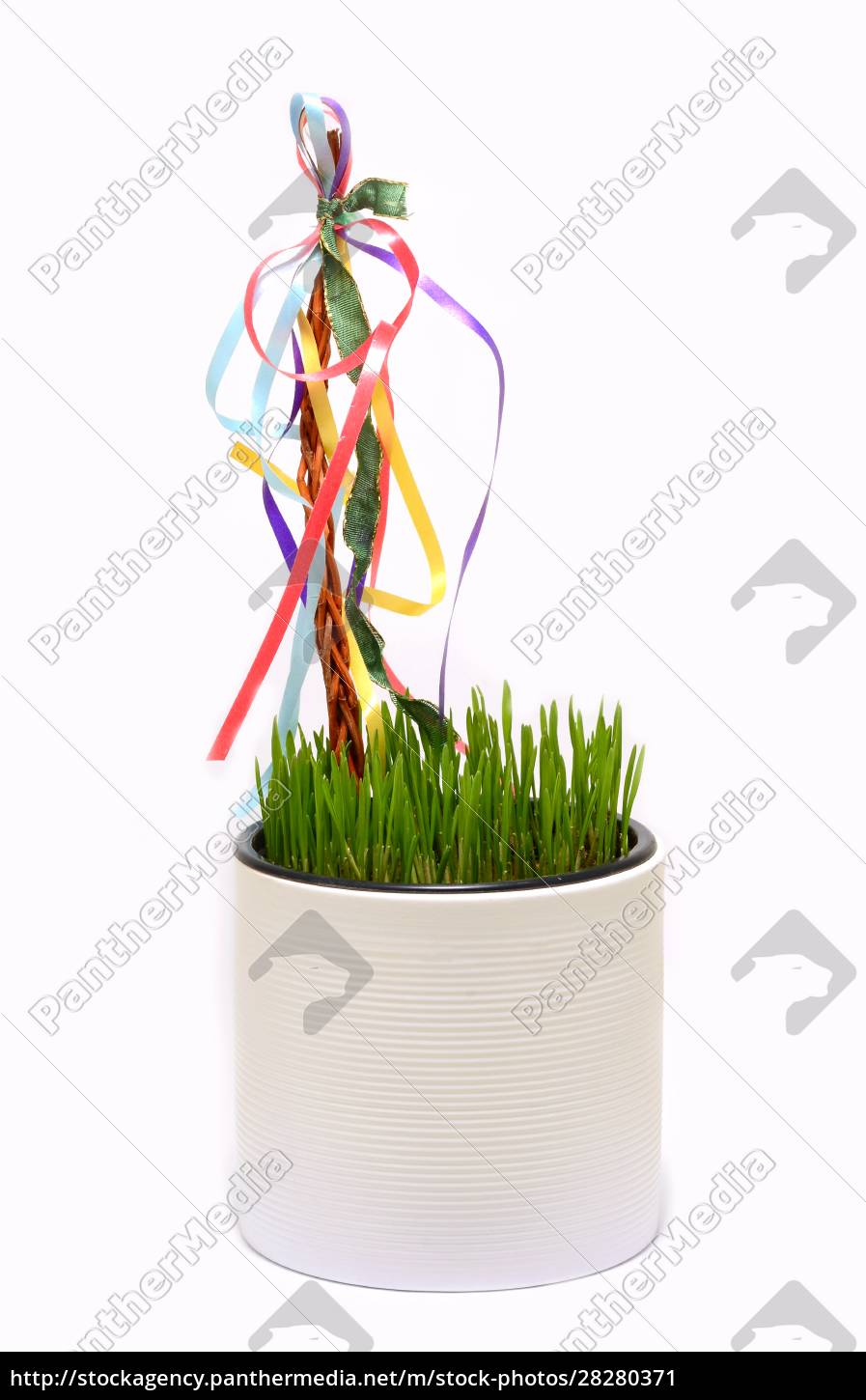 traditional, easter, decoration., whip, and, wheat - 28280371