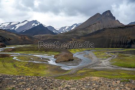 volcanic, mountains, of, landmannalaugar, in, fjallabak - 28280092