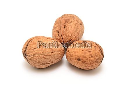 walnuts, on, white, background - 28280048