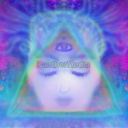 woman with third eye psychic supernatural