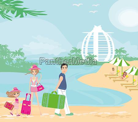 family vacation in the tropics