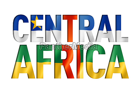 central african republic flag text font