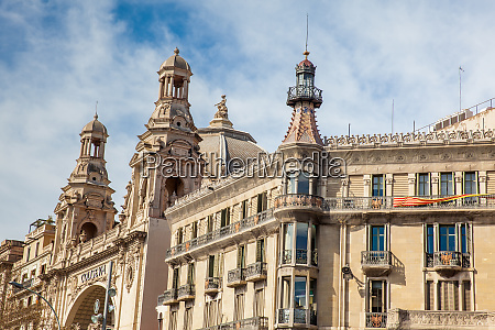 barcelona march 2018 the historic