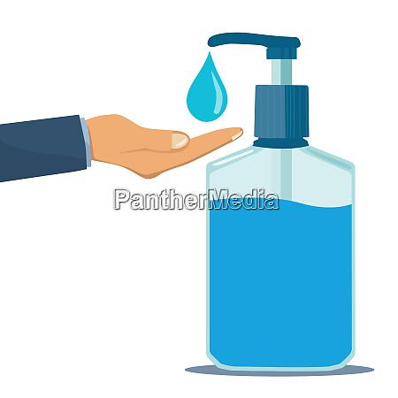 alcohol gel cleaning hands virus hygiene