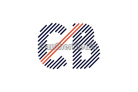 c b initial letter logo design