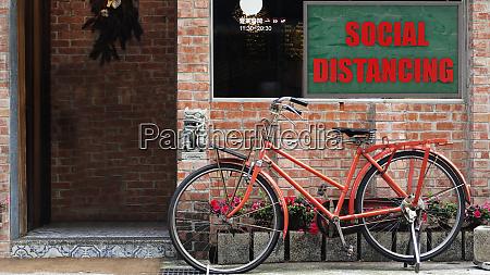 3d rendering of social distancing keep