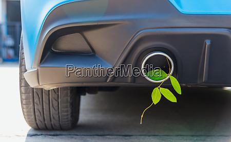 eco electric hybrid car environmental concept